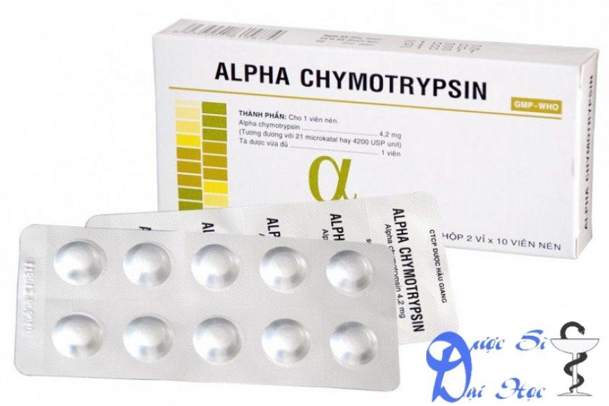 Thuốc Alphachymotrypsin giá bao nhiêu? có tác dụng gì? có tốt hay không?