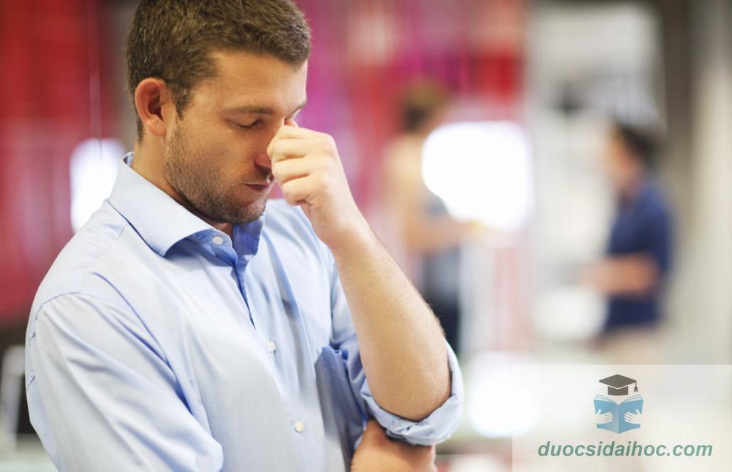 stress gây chứng rụng tóc ở nam giới