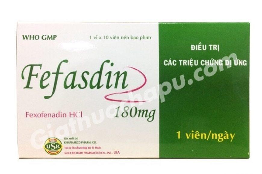 Thuốc fefasdin giá bao nhiêu? có tác dụng gì? có tốt hay không?