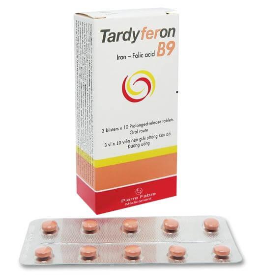 Kết quả hình ảnh cho Viên sắt Tardyferon B9