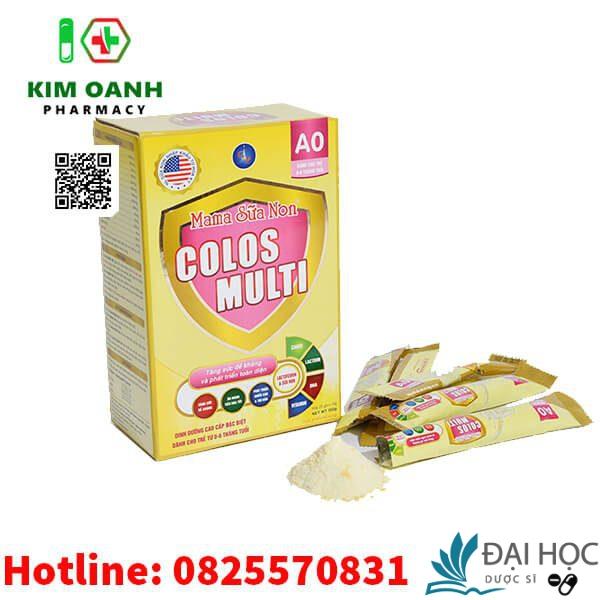 Sữa non colos multi A0 giúp tăng cường sức đề kháng, tăng cường miễn dịch